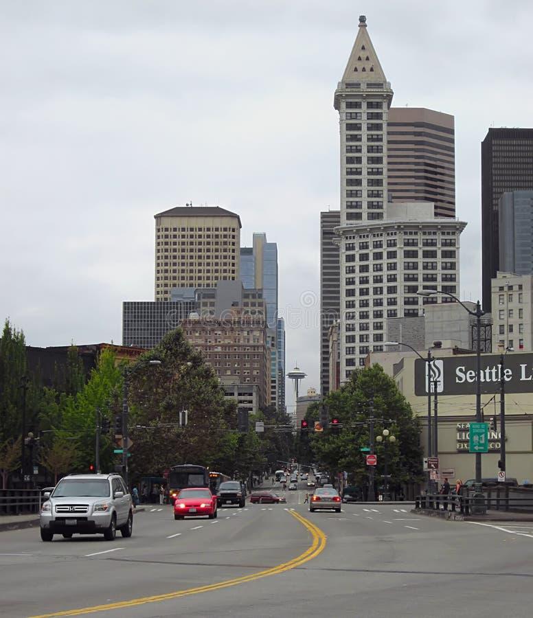 trraffic的城市 免版税库存图片