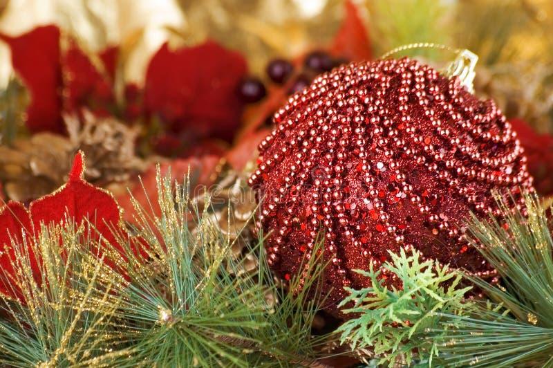 Trreedecoratie van Kerstmis stock afbeelding