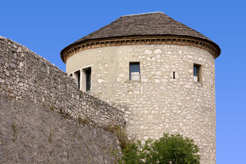 Trsat城堡的塔  免版税库存图片