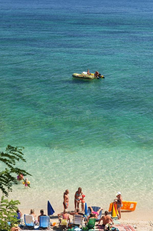 Trstenica Strand, Orebic, Kroatien stockbild
