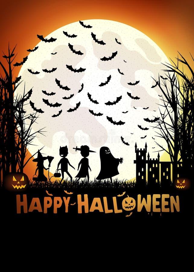 Truc of het behandelen op Halloween royalty-vrije stock afbeelding