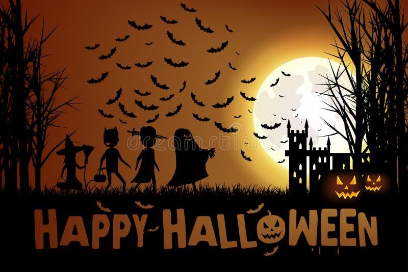 Truc of het behandelen op Halloween royalty-vrije stock fotografie