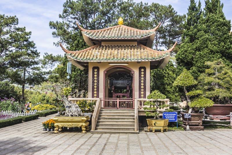 Truc Lam Pagoda fotografia stock