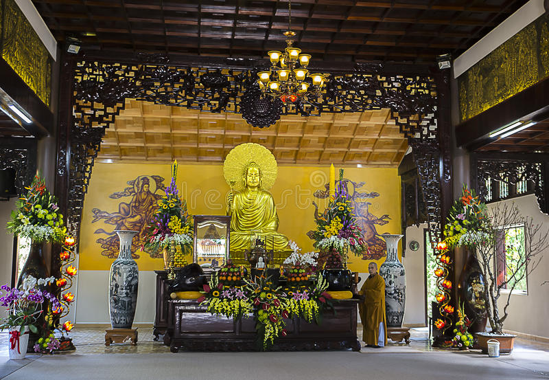 Truc Lam Pagoda arkivfoton