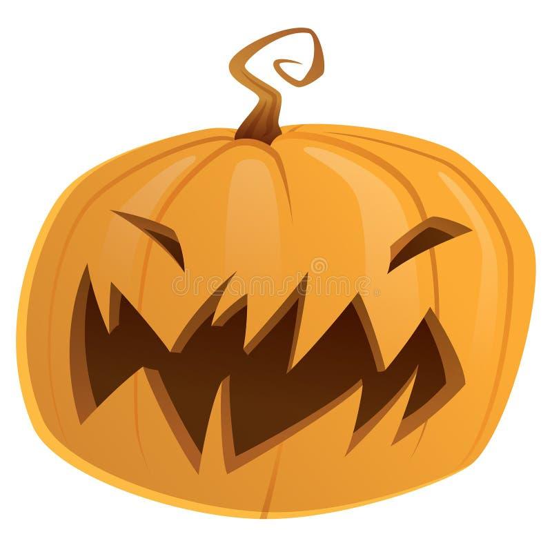 Truc van de het beeldverhaal vectorpompoen van Halloween behandelt de enge of geïsoleerd stock illustratie