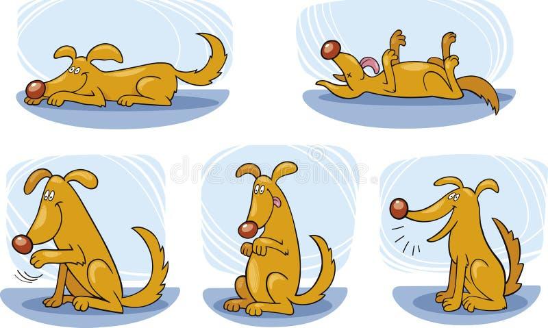 Trucchi del cane illustrazione vettoriale