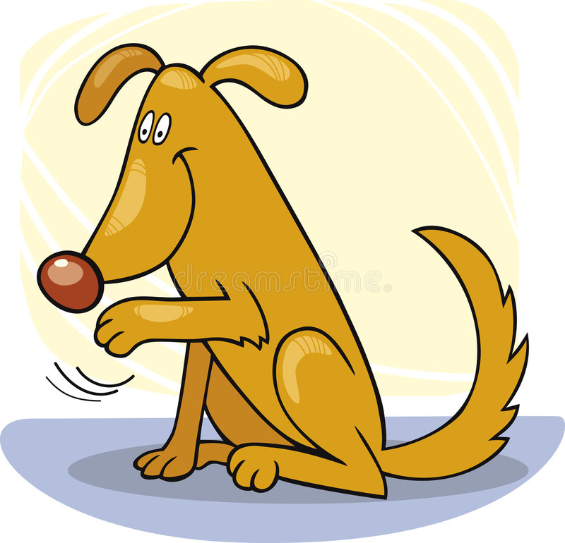 Trucchi del cane: onda ciao royalty illustrazione gratis