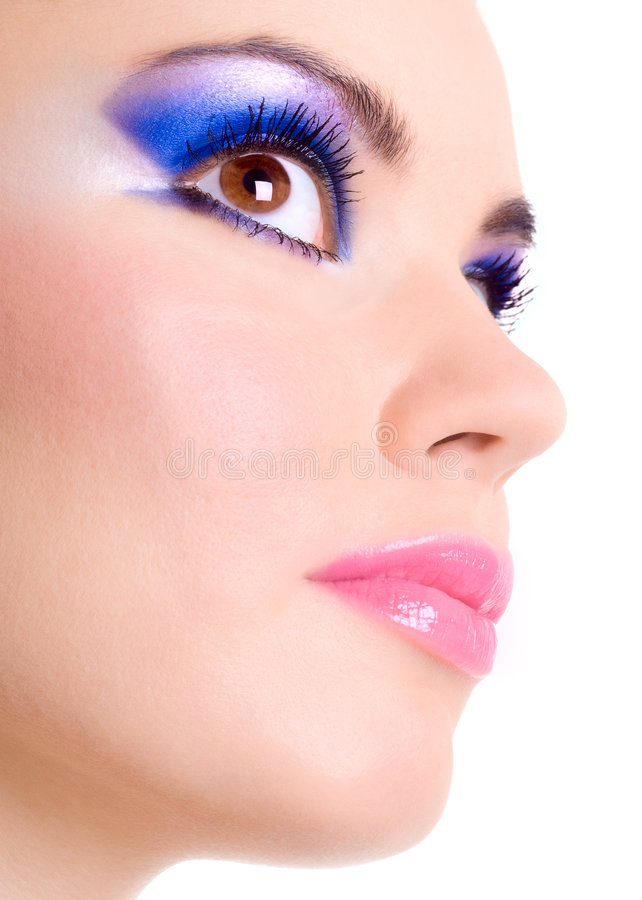 Trucco di bellezza fotografie stock libere da diritti