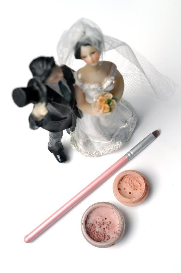 Trucco di cerimonia nuziale fotografie stock libere da diritti