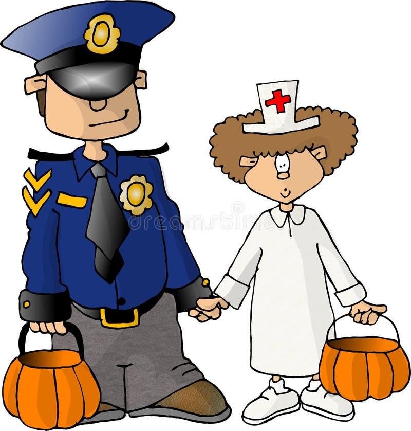 Trucco o treaters di Halloween illustrazione vettoriale
