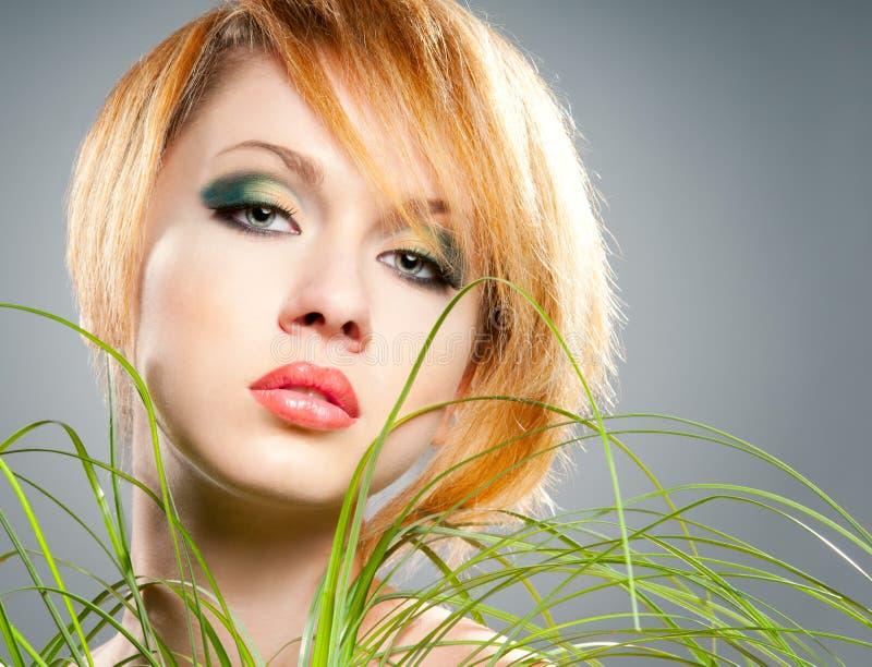 Trucco verde fotografia stock