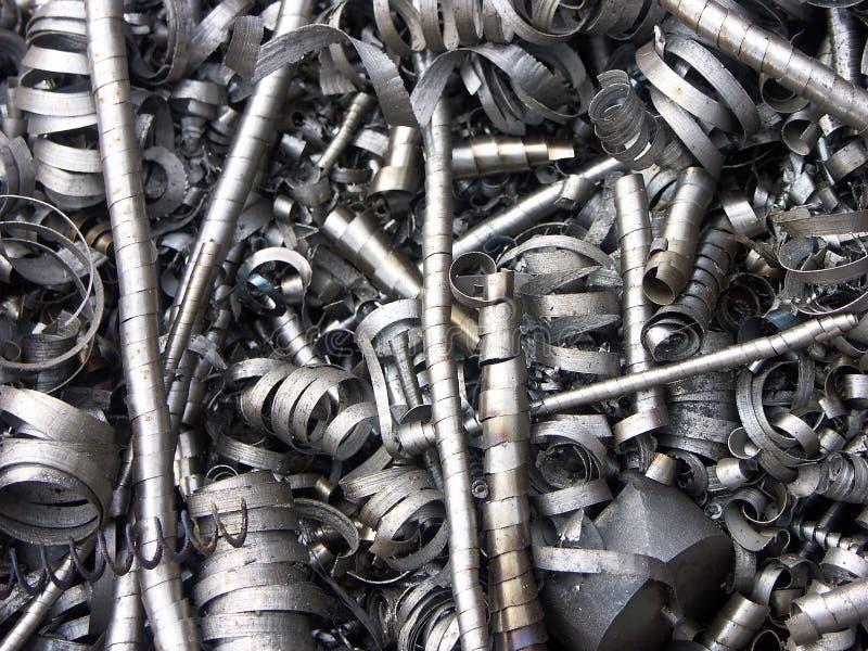 Trucioli del metallo immagini stock