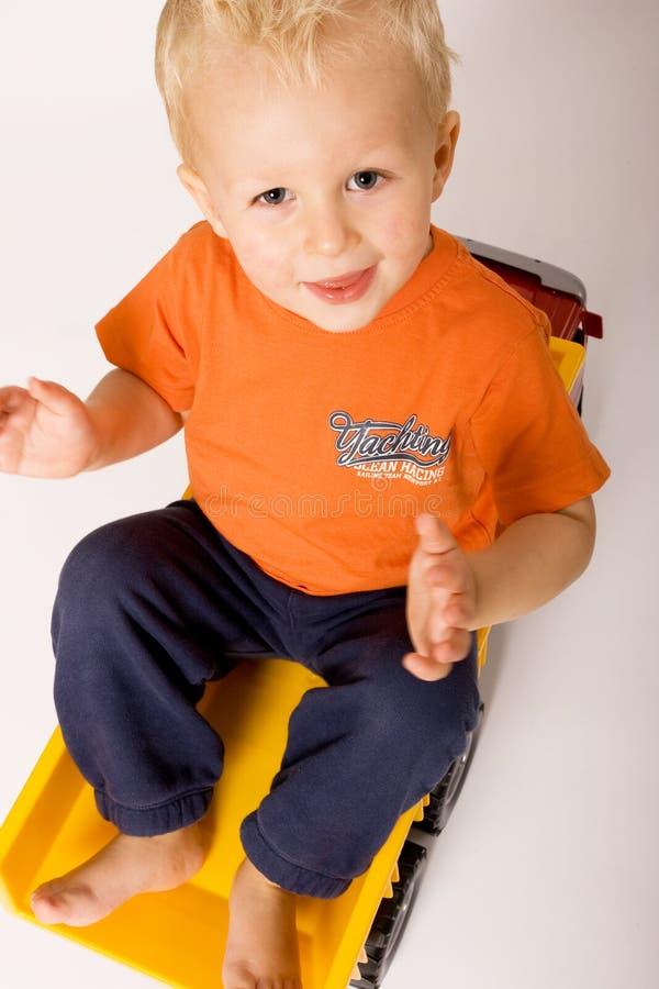 Download Truck αγοριών στοκ εικόνες. εικόνα από παιδί, θέση, χαμόγελο - 13183496