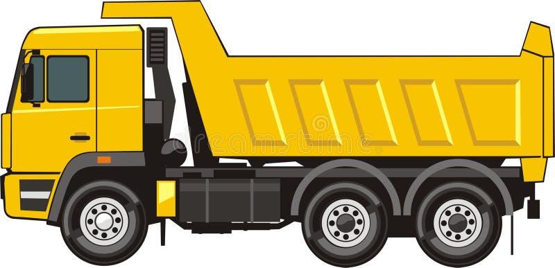 truck απορρίψεων διανυσματική απεικόνιση