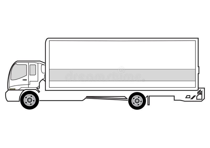 truck γραμμών τέχνης ελεύθερη απεικόνιση δικαιώματος
