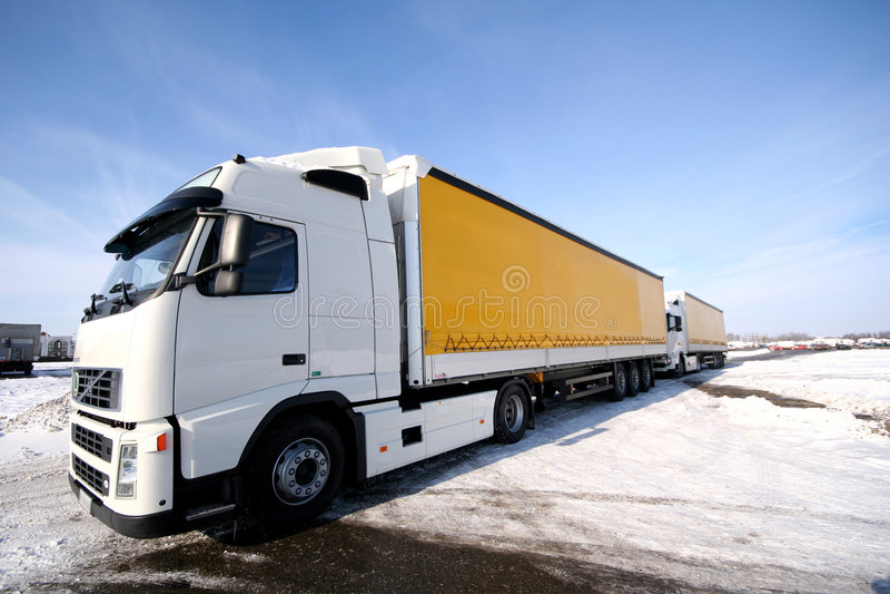 truck δύο στοκ εικόνα με δικαίωμα ελεύθερης χρήσης
