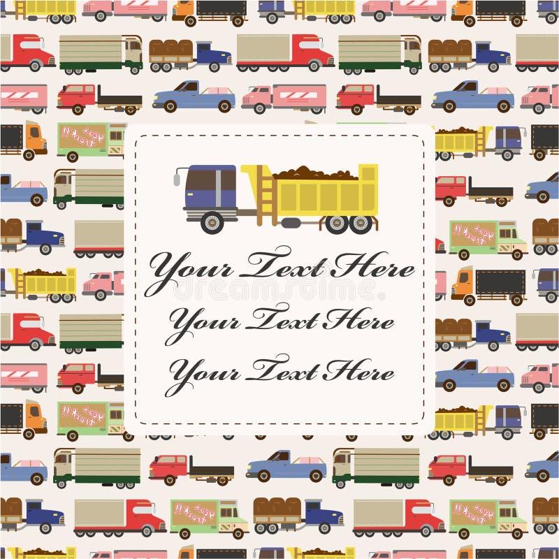 truck καρτών αυτοκινήτων ελεύθερη απεικόνιση δικαιώματος