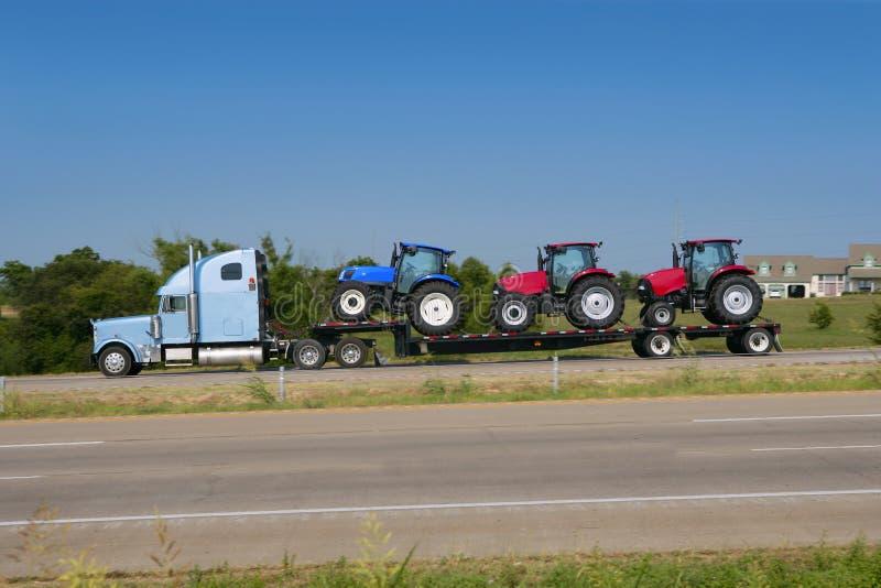 truck μεταφορών κομματιών φορτ&e στοκ εικόνες