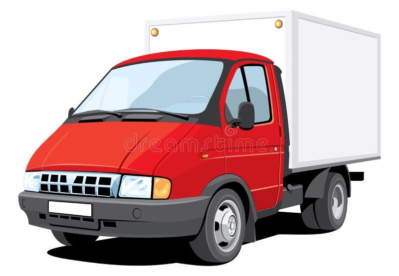 truck παράδοσης διανυσματική απεικόνιση