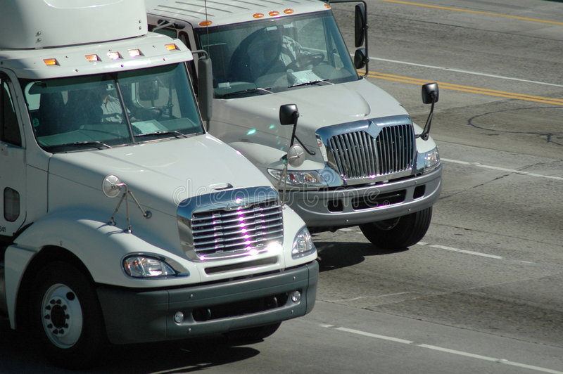truck παράδοσης στοκ φωτογραφία
