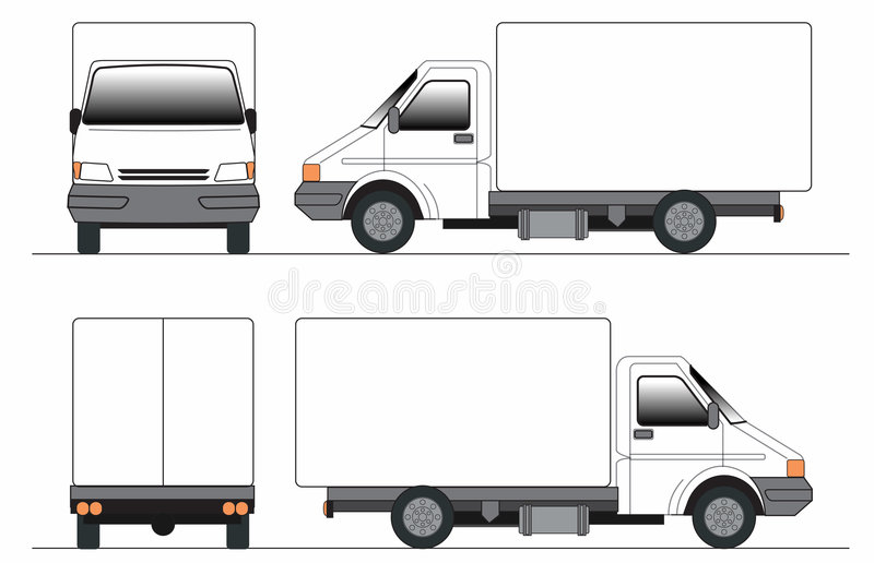 Truck συνδετήρας-τέχνης ελεύθερη απεικόνιση δικαιώματος