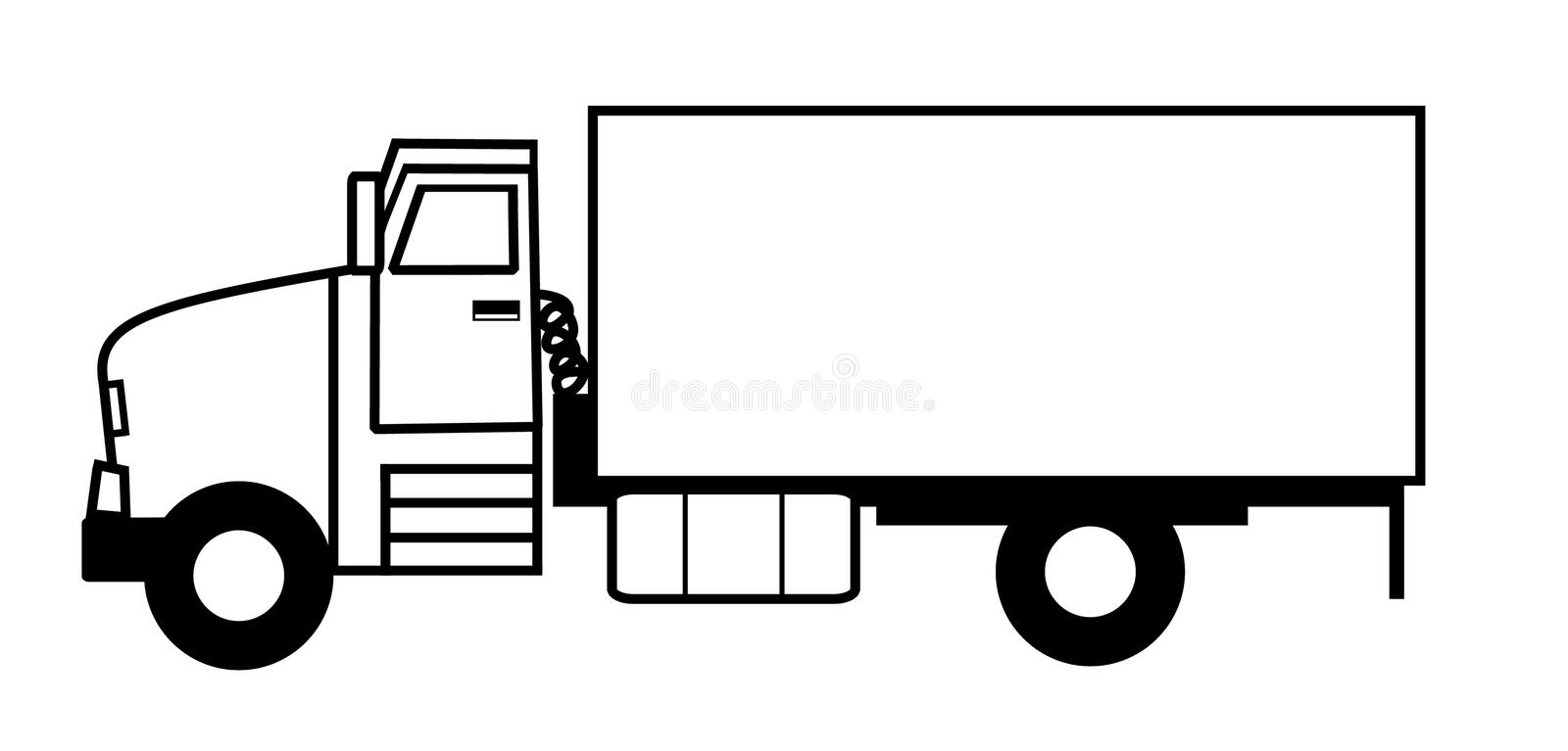 Download Truck stock illustration. Image of goods, darrenw, moving - 1037954