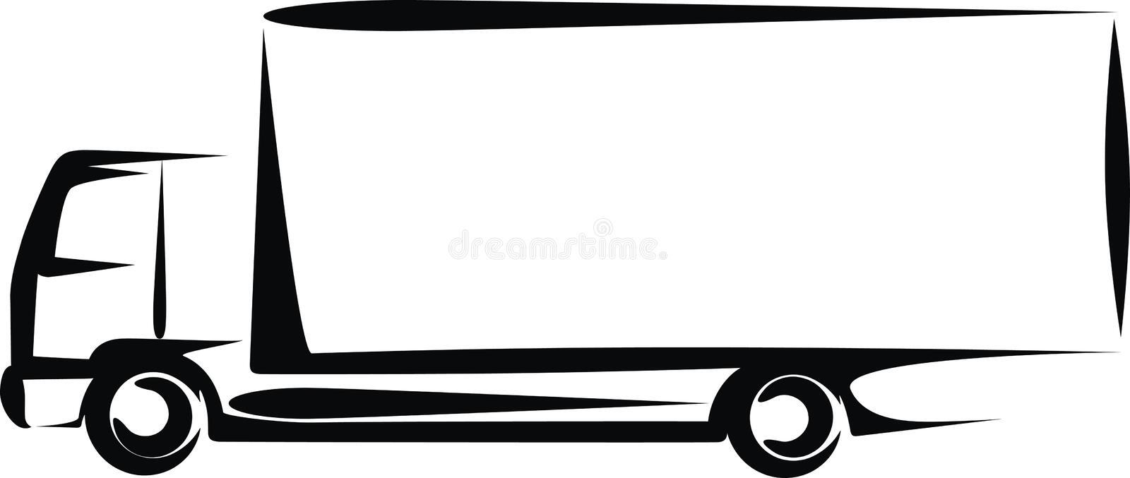 Truck. Simple illustration with a truck
