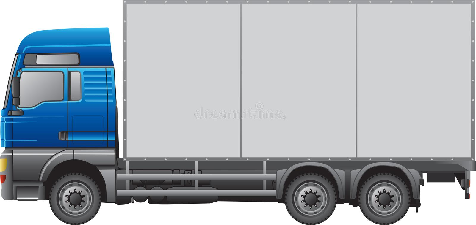 Truck. Semi-trailer truck isolated on white royalty free illustration