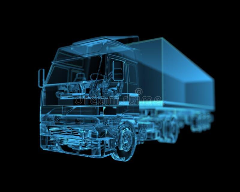 Download Truck stock illustration. Illustration of heavy, blueprint - 26612114