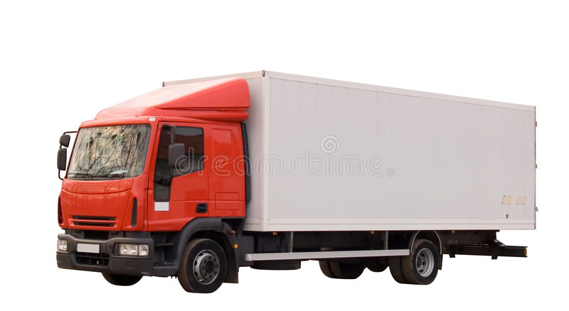 Truck. Isolated on white background. Working path included