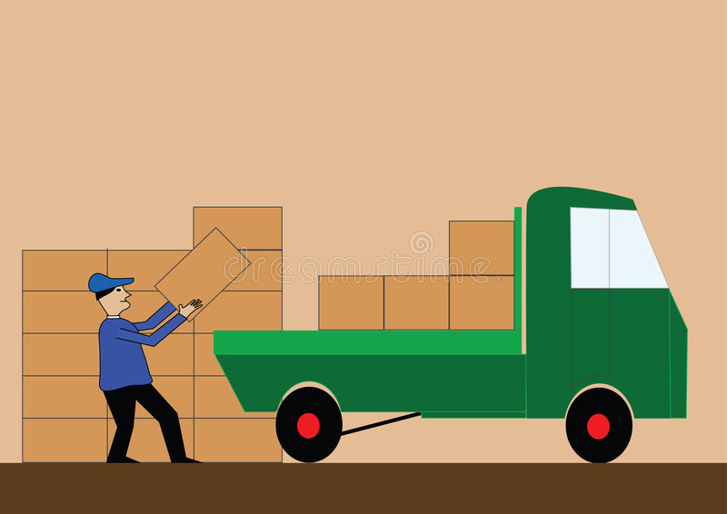 Truck royalty free illustration