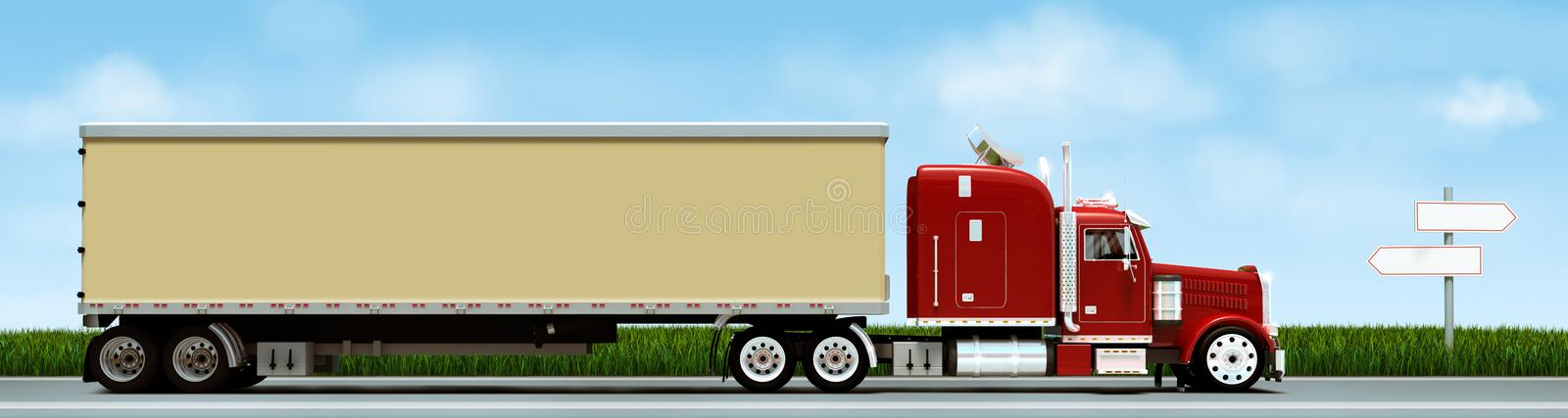 Download Truck stock image. Image of street, container, mini, transportation - 7466465