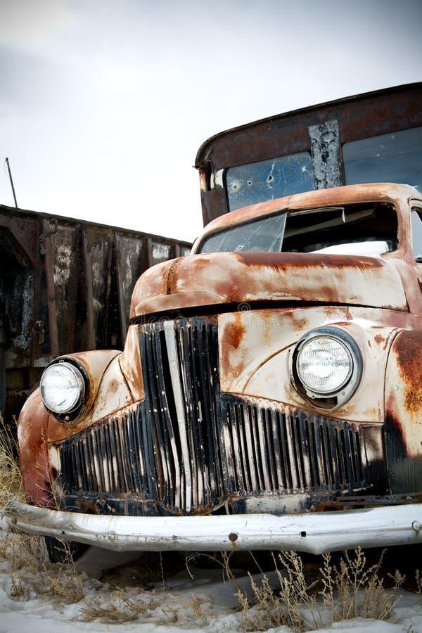 Download Truck abandoned stock photo. Image of headlight, wyoming - 4264492