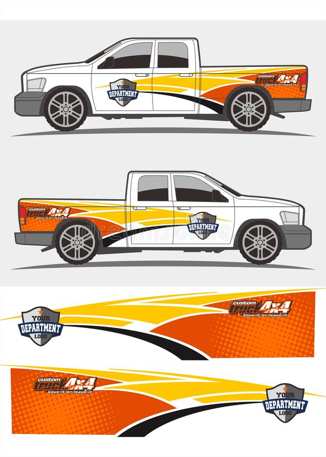 Free Truck And Vehicle Decal Graphics Kits Design Royalty Free Stock Images - 107006129