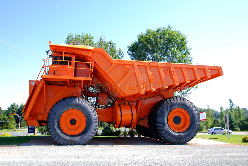 Truck. ASTESTOS QUEBEC CANADA JANUARY 27: Lectra Haul M200 (The first 200 tonne capacity truck with two axles). On january 27 2013 in Asbestos Quebec Canada royalty free stock image