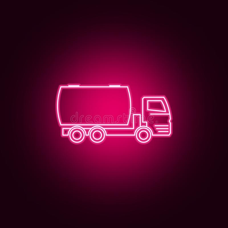 truck auto barrel neon icon. Elements of Transport set. Simple icon for websites, web design, mobile app, info graphics royalty free illustration