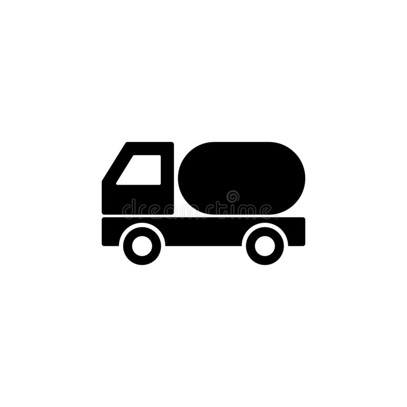 Truck auto barrelicon. Simple thin line, outline  of Ban icons for UI and UX, website or mobile application. The icon of truck auto barrel. Simple flat icon vector illustration
