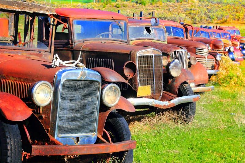 Truck bone yard stock photo