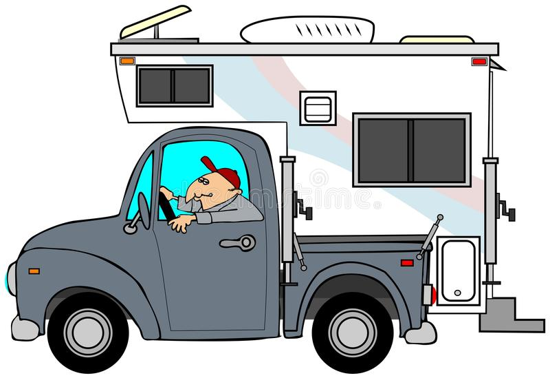 Download Truck & camper stock illustration. Image of window, cartoon - 27267977