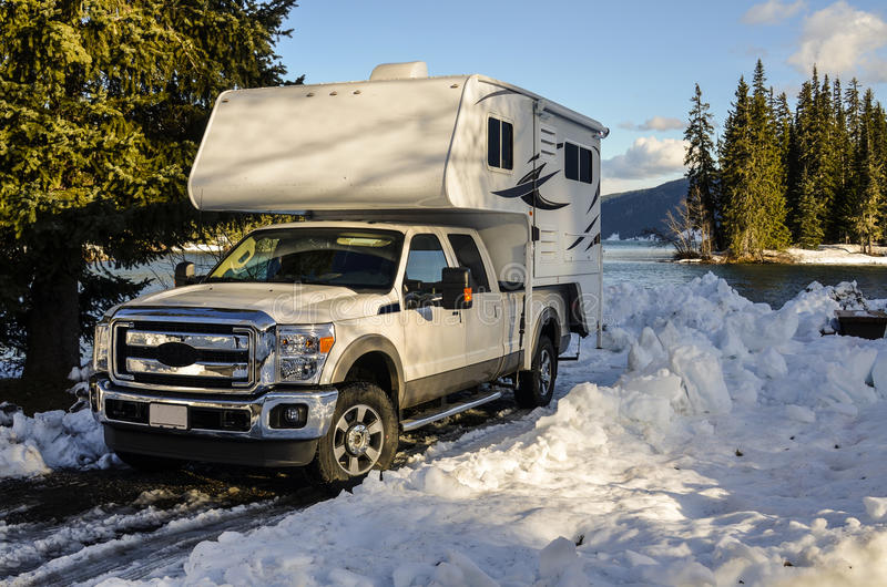 Download Truck camper stock image. Image of cold, mobile, recreational - 28445909