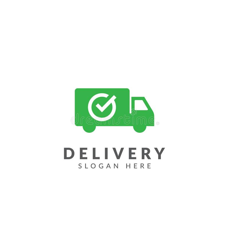 Truck car delivery logo vector design template royalty free illustration