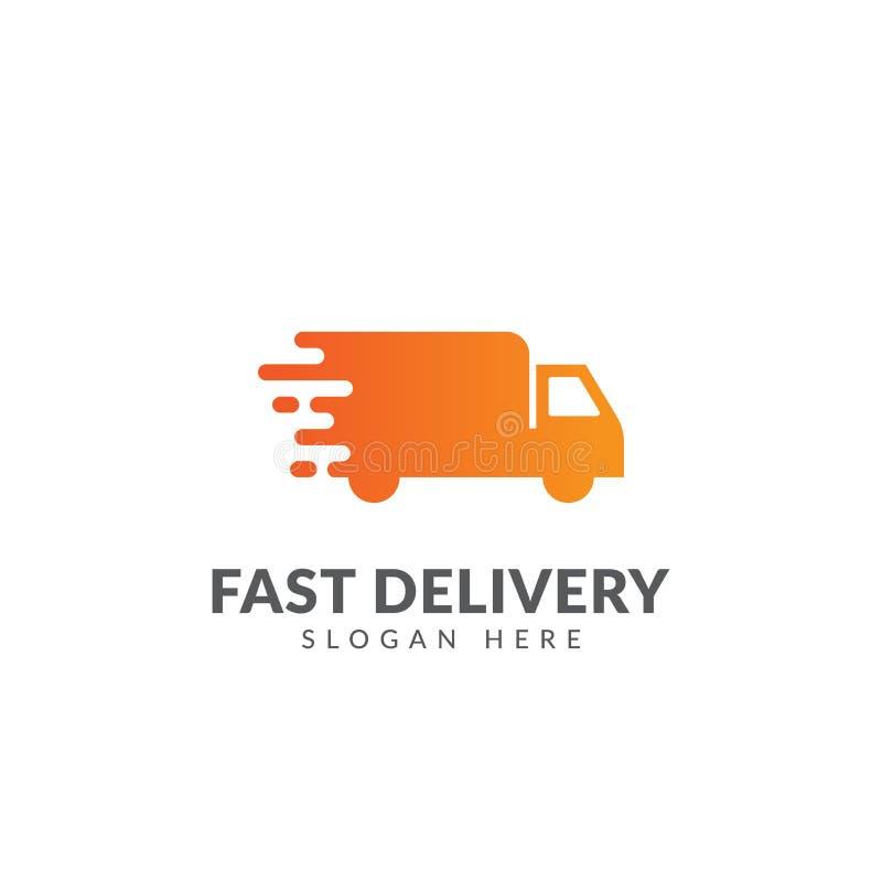 Moving Truck Speed Logo Vector Stock Vector