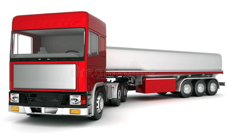 Truck with cargo stock illustration