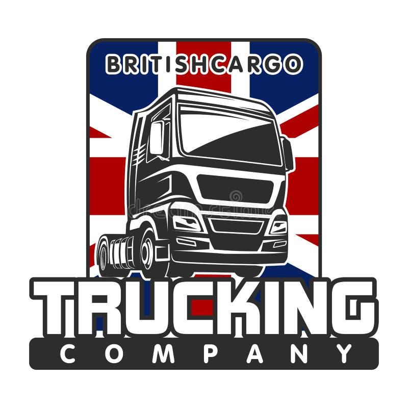 Truck cargo british freight logo template royalty free illustration