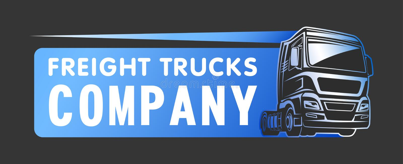 Truck cargo freight company logo template royalty free illustration