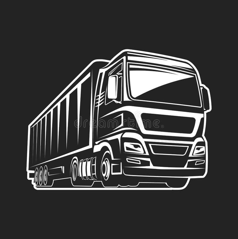 Truck cargo freight logo template vector illustration
