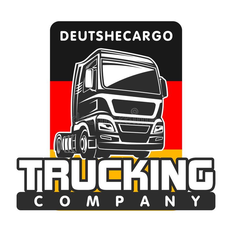 Truck cargo germany freight logo template vector illustration