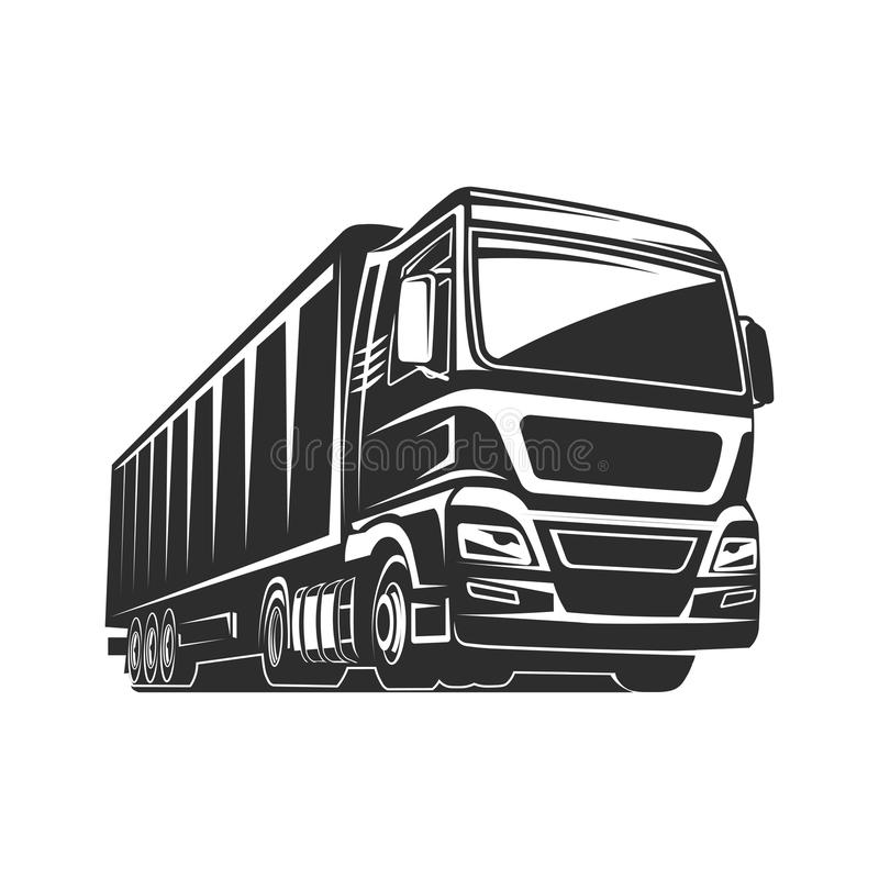 Truck cargo silhouette freight logo template vector illustration