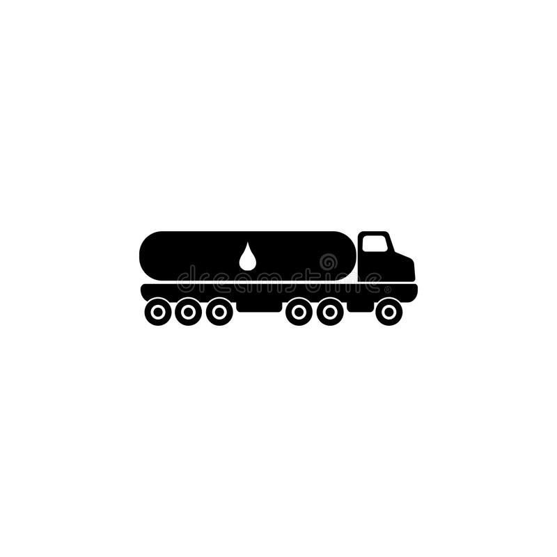 Truck carrier fuel icon. Oil an gas icon elements. Premium quality graphic design icon. Simple icon for websites, web design, mobi royalty free illustration