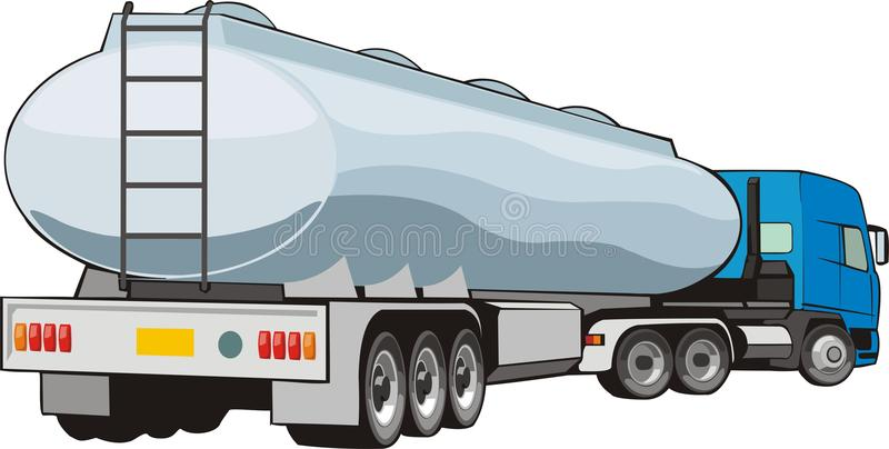 Truck with cistern royalty free illustration